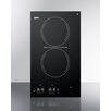 """Summit Appliance 19.7"""" Electric Cooktop with 2 Burners"""