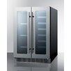 Summit Appliance 21 Bottle Dual Zone Convertible Wine Refrigerator