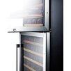 Summit Appliance 118 Bottle Dual Zone Convertible Wine Refrigerator