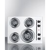 """Summit Appliance 24"""" Electric Cooktop with 4 Burners"""