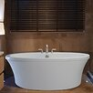 "Reliance Whirlpools Center Drain Freestanding 66"" x 36.75"" Soaking Tub with Deck for Faucet"