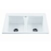 """Reliance Whirlpools Reliance 33.25"""" x 22.25"""" Endurance Double Bowl Kitchen Sink"""