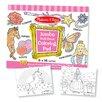 Melissa & Doug Jumbo Coloring Pad in Pink (Set of 2)