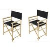 Buyers Choice Phat Tommy Foldable Directors Chair (Set of 2)