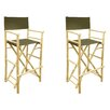 Buyers Choice Phat Tommy Foldable Tall Directors Chair (Set of 2)