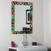 Decor Wonderland Abstract Frameless Wall Mirror