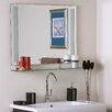 Decor Wonderland Frameless Roxi Wall Mirror with shelf