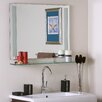 Brayden Studio Frameless Wall Mirror with Shelf