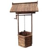 Log Wishing Well - American Furniture Classics Garden Statues and Outdoor Accents
