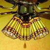 """Meyda Tiffany 4"""" Prairie Corn Bell Ceiling Fan Fitter Shade"""