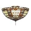 Meyda Tiffany Fleur-de-lis 3 Light Flush Mount