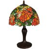 "Meyda Tiffany Lamella 18"" Table Lamp with Bowl Shade"