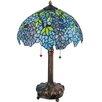 """Meyda Tiffany Tiffany Wisteria 25"""" Table Lamp with Bowl Shade"""