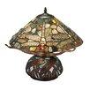 """Meyda Tiffany Dragonfly Cut Agata 16.5"""" Table Lamp"""