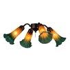 Meyda Tiffany Pond Lily 4 Light Branched Ceiling Fan Light Kit