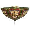 Meyda Tiffany Fleur De Lis 3 Light Bowl Ceiling Fan Light Kit