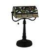 "Meyda Tiffany Vineyard Banker's 15"" Table Lamp"