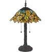 """Meyda Tiffany Follaje 24.5"""" Table Lamp with Bowl Shade"""