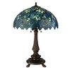"""Meyda Tiffany Nightfall Wisteria 26"""" Table Lamp with Bowl Shade"""