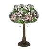 "Meyda Tiffany Dragonfly Flower 22.5"" Table Lamp with Novelty Shade"