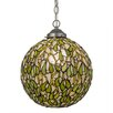 Meyda Tiffany Greenbriar Oak Mistletoe Ball 1 Light Globe Pendant