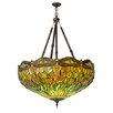 Meyda Tiffany Greenbriar Oak Tiffany Hanginghead Dragonfly 4 Light Inverted Pendant