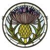 Meyda Tiffany Tiffany Thistle Medallion Stained Glass Window