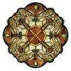 Meyda Tiffany Tiffany Mackintosh Nouveau Galway Medallion Stained Glass Window