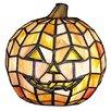 Meyda Tiffany Jack O'Lantern Tiffany Glass Accent Table Lamp