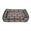 Jax & Bones Flocked Lantern Lounge Bolster Dog Bed