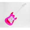Maples Clock Guitar Wall Clock with Red Neon