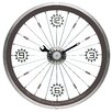 "Maples Clock 16"" Bike Wall Clock"