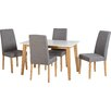 Seconique Rimini Dining Table and 4 Chairs