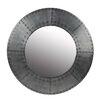 Privilege Wood and Aluminum Round Mirror