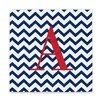 Cathys Concepts Chevron Initial Wrapped Canvas