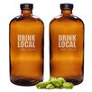 Cathys Concepts Personalized Drink Local 16 oz. Bullet Growlettes (Set of 2)