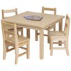 Steffy Wood Products Kids Square Table