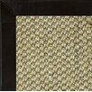 Fibreworks Siskiyou Textured Leather Bordered Area Rug