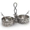 Star Home Trellis Condiment Server with Spoon/Glass Inserts