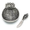 Star Home Pineapple Dip Dish and Spreader (Set of 2)
