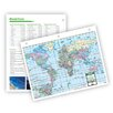 Universal Map World Notebook Map with Fact Sheet (Set of 3)