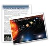 Universal Map Solar System Notebook Map with Fact Sheet (Set of 3)