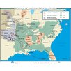 Universal Map U.S. History Wall Maps - Removal of American Indians