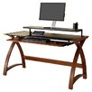 Jual Curve Computer Desk with Keyboard Tray