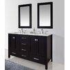 """Stufurhome Malibu 60"""" Double Bathroom Vanity Set With Mirror"""