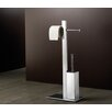 Gedy by Nameeks Bridge Bathroom Butler Free Standing Toilet Brush Set