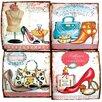 Alterton Furniture Totally Girls 3D 4-Piece Vintage Advertisement Set