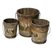 Alterton Furniture 3-Piece Farm Bucket Set (Set of 3)