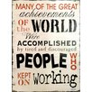 Alterton Furniture Great Achievements Wall Art