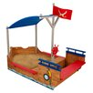 KidKraft Bootförmiger Sandkasten mit Abdeckplane